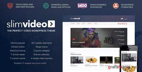 ThemeForest - Slimvideo v1.0.3 - Video WordPress Community Theme - 11354429