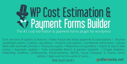 CodeCanyon - WP Cost Estimation & Payment Forms Builder v9.576 - 7818230