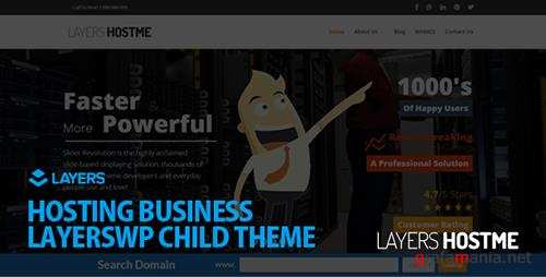 ThemeForest - Hostme v2.3.0 - LayersWP Multipurpose Child Theme - 11208409