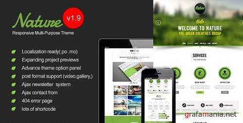 ThemeForest - Nature v1.9 - Responsive Onepage WordPress Theme - 5033801