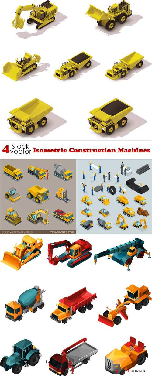Vectors - Isometric Construction Machines