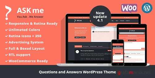 ThemeForest - Ask Me v4.1 - Responsive Questions & Answers WordPress - 7935874
