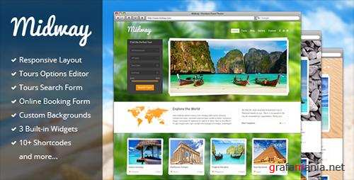 ThemeForest - Midway v3.11 - Responsive Travel WP Theme - 3559006