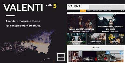 ThemeForest - Valenti v5.5.2 - WordPress HD Review Magazine News Theme - 5888961
