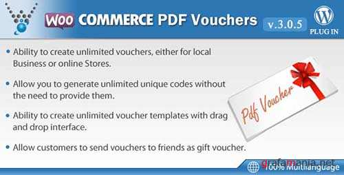 CodeCanyon - WooCommerce PDF Vouchers v3.0.5 - WordPress Plugin - 7392046