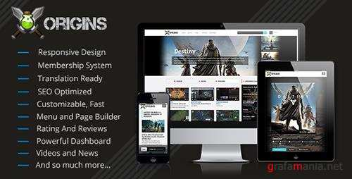 CodeCanyon - Origins v1.8 - Video Games Portal - 7960224