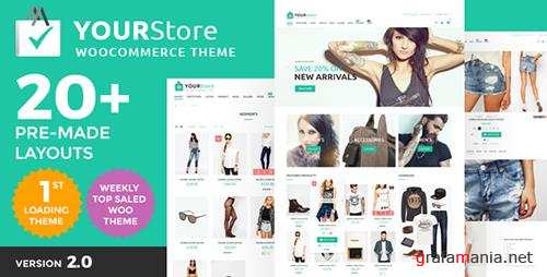 ThemeForest - YourStore v1.8 - Woocommerce theme - 16912793