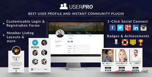 CodeCanyon - UserPro v4.9.9 - User Profiles with Social Login - 5958681