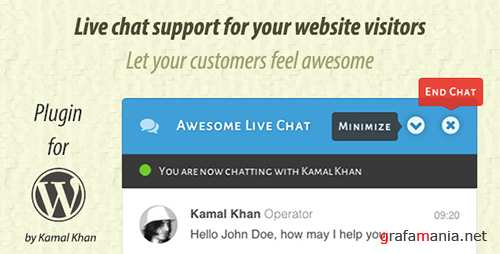 CodeCanyon - Awesome Live Chat v1.4.0 - 9931156