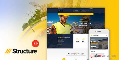 ThemeForest - Structure v5.0 - Construction WordPress Theme - 10798442