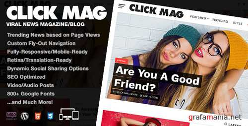 ThemeForest - Click Mag v1.08.0 - Viral WordPress News Magazine/Blog Theme - 18081003