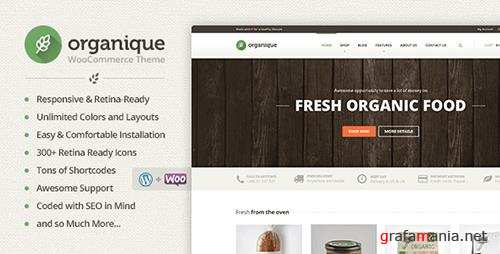 ThemeForest - Organique v1.11.5 - WordPress Theme For Healthy Food Shop - 7312458