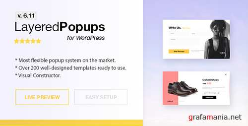 CodeCanyon - Popup Plugin for WordPress - Layered Popups v6.10 - 5978263