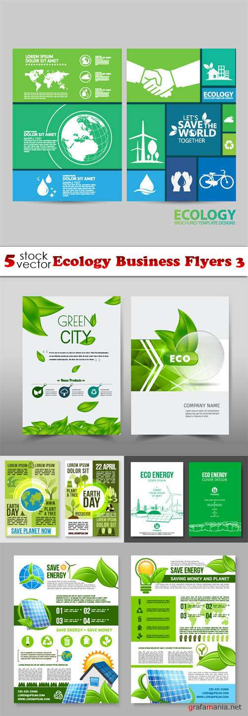 Vectors - Ecology Business Flyers 3