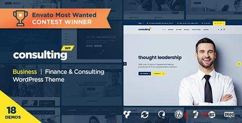 ThemeForest - Consulting v3.7 - Business, Finance WordPress Theme - 14740561 - NULLED