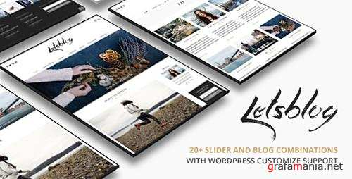 ThemeForest - Lets Blog v1.6.1 - Responsive Blog WordPress Theme - 12340419
