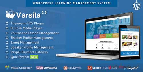 ThemeForest - Varsita v2.5 - Education Theme, A Learning Management System for WordPress - 10502637