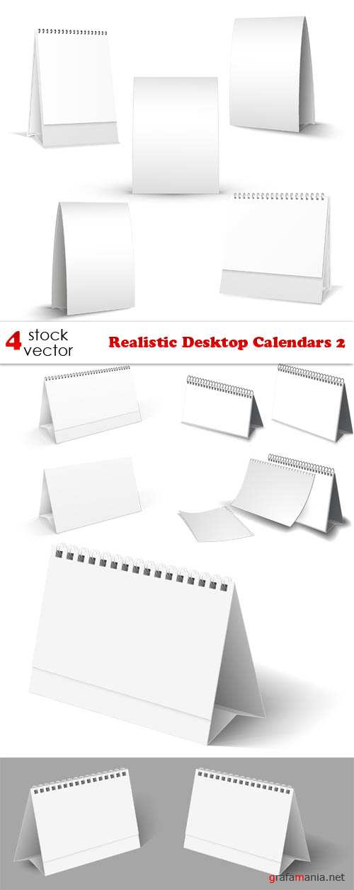 Vectors - Realistic Desktop Calendars 2