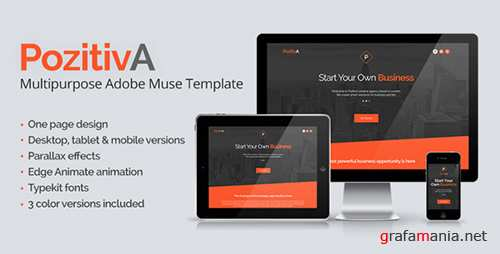 ThemeForest - PozitivA - Multipurpose One Page Muse Template (Update: 15 May 15) - 8419289