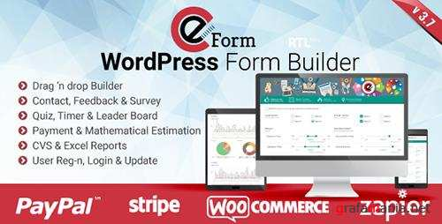 CodeCanyon - eForm v3.7.1 - WordPress Form Builder - 3180835