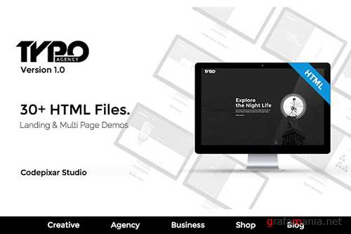 Typo Creative Agency HTML5 Template - CM 1218285