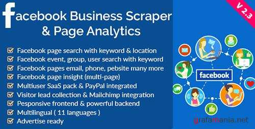 CodeCanyon - Facebook Business Scraper & Page Analytics v2.3 - 16608158