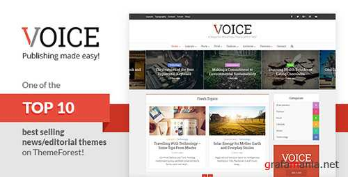 ThemeForest - Voice v2.4.1 - Clean News/Magazine WordPress Theme - 9646105