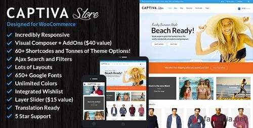 ThemeForest - Captiva v1.9.7 - Responsive WordPress WooCommerce Theme - 8241498