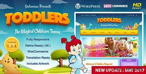 ThemeForest - Toddlers v1.3.4 - Kids, Child Care & Playgroup WordPress Theme - 10773172