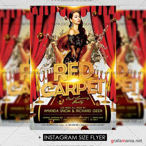Premium A5 Flyer Template - Red Carpet