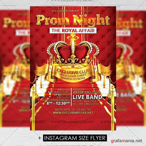 Premium A5 Flyer Template - Prom Night Party