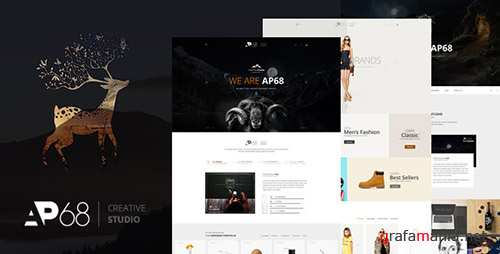 ThemeForest - AP68 v1.0 - Creative PSD Template - 16478296