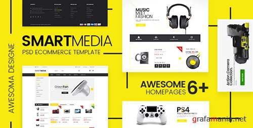 ThemeForest - Smart Media v1.0 - Ecommerce PSD Template - 19807876