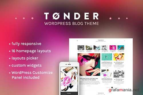 Tonder v1.0 - WordPress Blog Theme - CM 1483113
