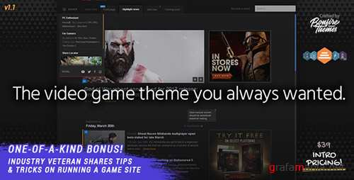 ThemeForest - PowerUp v1.0 - Video Game Theme for WordPress - 19665528