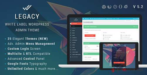 CodeCanyon - Legacy v5.2 - White label WordPress Admin Theme - 11272219