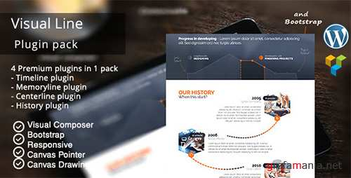 CodeCanyon - VisualLine Visual Composer Timeline Addons Pack v1.5.9 - 12147228