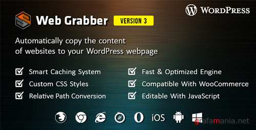 CodeCanyon - Web Grabber v3.0 - WordPress HTML Scraping Plugin - 16606336