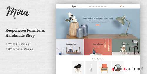 ThemeForest - Mina v1.0 - Responsive Furniture, Handmade Shop & Blog PSD Template - 19893492