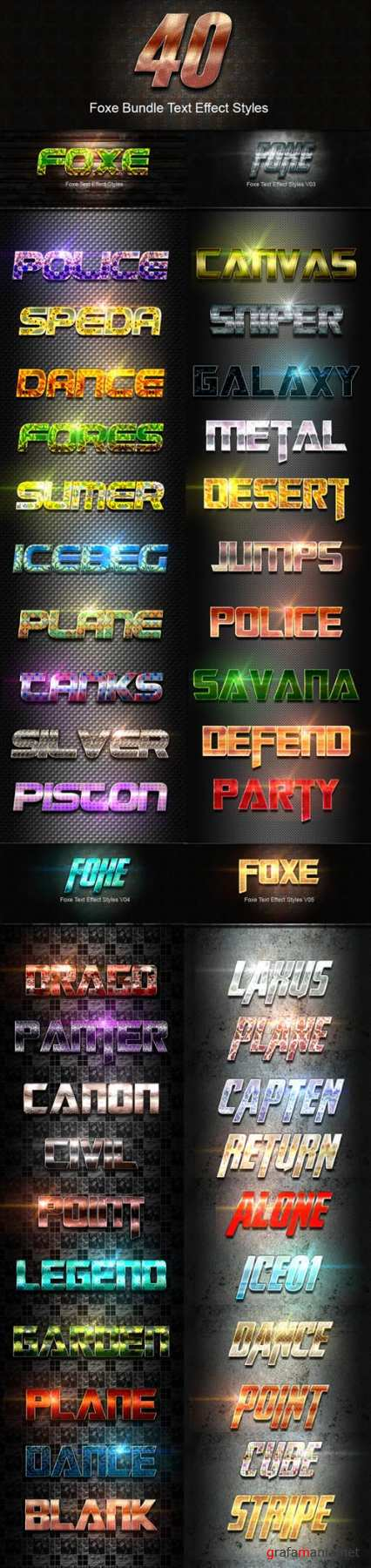 40 Foxe Bundle Text Effect Styles 19994984