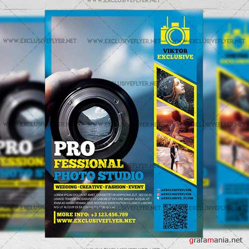Premium A5 Flyer Template - Professional Photo Studio