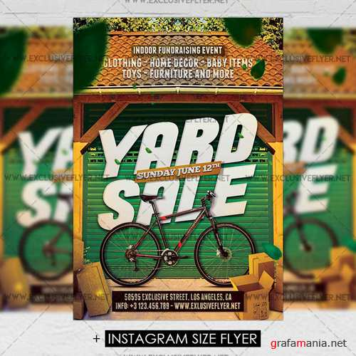 Premium A5 Flyer Template - Yard Sale