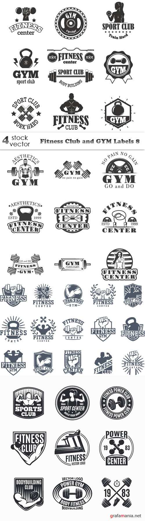 Vectors - Fitness Club and GYM Labels 8
