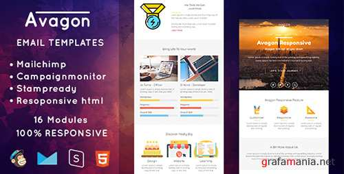 ThemeForest - Avagon v1.0 - Responsive Email Templates - 19932837