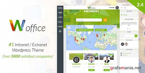 ThemeForest - Woffice v2.4.4 - Intranet/Extranet WordPress Theme - 11671924