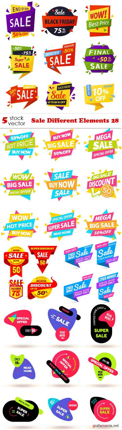 Vectors - Sale Different Elements 28