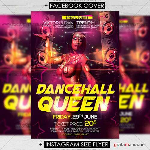 Premium A5 Flyer Template - Dancehall Queen