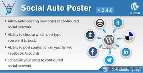 CodeCanyon - Social Auto Poster v2.4.0 - WordPress Plugin - 5754169