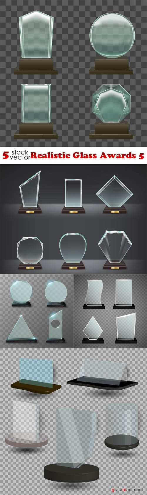 Vectors - Realistic Glass Awards 5