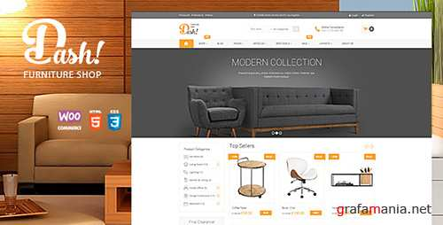 ThemeForest - Dash v2.0 - Handmade Furniture Marketplace Theme - 12650747